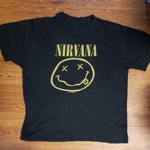 Nirvana black tee sz large used tee